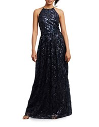 Donna Morgan Tiffany Embellished Halterneck Dress Midnight