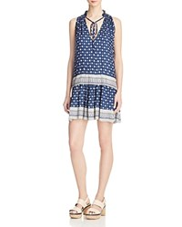 French Connection Castaway Drape Dress Indian Ocean Multi