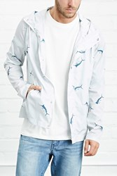 Forever 21 Hooded Swordfish Print Jacket