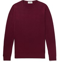 John Smedley Cleves Merino Wool Sweater Burgundy