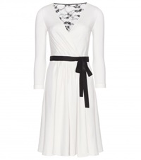 Diane Von Furstenberg Wool Wrap Dress White