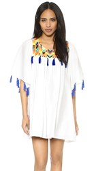 Pia Pauro Tassel Mini Dress White
