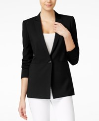 Armani Exchange Single Button Blazer Solid Black