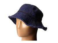 Lauren Ralph Lauren Cotton Sunwashed Canvas Bucket Hat Navy Bucket Caps
