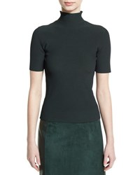 Calvin Klein Ribbed Half Sleeve Turtleneck Sweater Forest Green