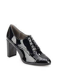 Saks Fifth Avenue Oxford Inspired Lace Up Boots Black