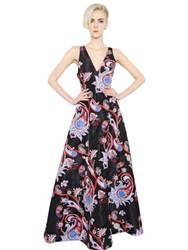 Mary Katrantzou Paisley Printed Silk Twill Dress