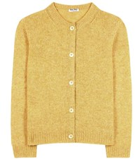 Miu Miu Wool Cardigan Yellow