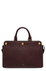 Mulberry 'Chester' Textured Goatskin Leather Satchel Burgundy