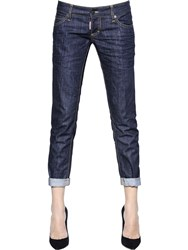 Dsquared Pat Fit Dark Wash Cotton Denim Jeans
