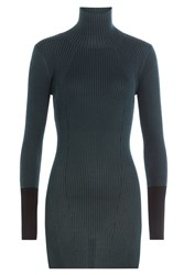 By Malene Birger Ribbed Knit Turtleneck Pullover Green