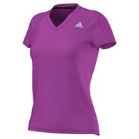 Adidas Response V Neck Running T Shirt Purple