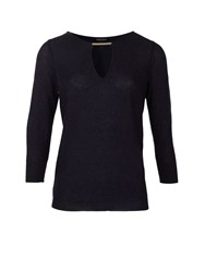 Morgan Cut Out Detail Glittery Sweater Navy