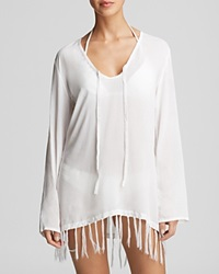 Surf Gypsy Crochet Detail Swim Cover Up Tunic White