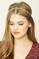 Forever 21 Butterfly Rhinestone Headwrap Gold