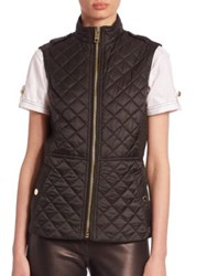 Burberry Tindaleq Quilted Vest Black