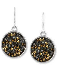 Kenneth Cole New York Two Tone Faceted Bead Round Drop Earrings No Color