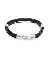 Uno De 50 Pasando Leather Bracelet Black