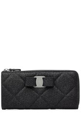 Salvatore Ferragamo Quilted Vara Wallet Black