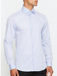 Reiss Christopher Classic Fit Long Sleeved Shirt Blue