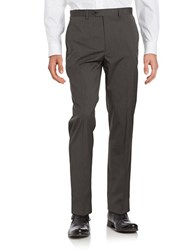 Michael Kors Textured Straight Leg Pants Grey