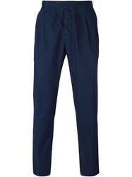 Ami Alexandre Mattiussi Pleated Trousers Blue