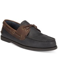 Tommy Hilfiger Men's Bowman Boat Shoes Men's Shoes Black Chocolate