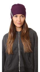 Adidas By Stella Mccartney Run Beanie Rich Plum Granite Granite