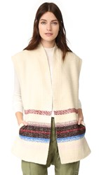 Scotch And Soda Maison Scotch Embroidered Vest Ivory
