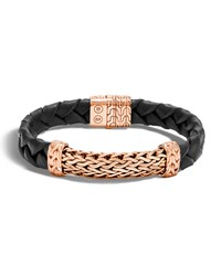 John Hardy Men's Classic Chain Bronze Station Bracelet Bronze Black