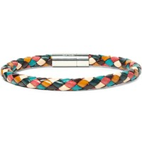 Paul Smith Braided Leather Bracelet Tan