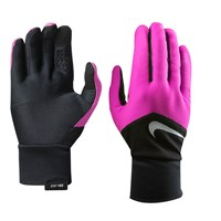 Nike Dri Fit Running Gloves Black Pink
