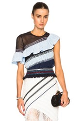 Peter Pilotto Octave Top In Blue Abstract