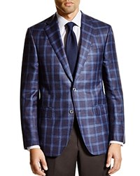 Jack Victor Loro Piana Plaid Classic Fit Sport Coat 100 Bloomingdale's Exclusive Navy Multi Plaid