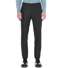 Boglioli Regular Fit Wool Trousers Charcoal