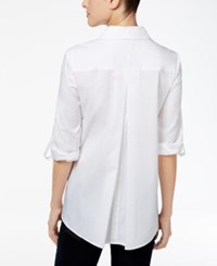 Styleandco. Style Co. Button Back High Low Shirt Only At Macy's Bright White