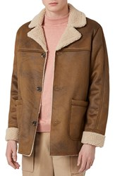 Topman Men's Faux Shearling Jacket