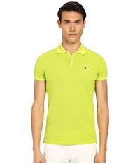 Dsquared Classic Fit Preppy Polo Green Men's Short Sleeve Knit