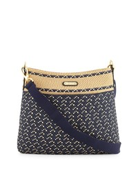 Eric Javits Escape Squishee Crossbody Pouch Bag Navy Mix