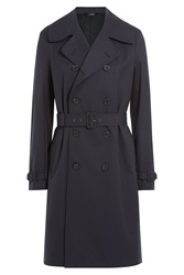 Jil Sander Cotton Trench Coat Blue