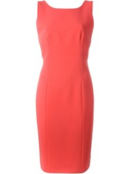 Roberto Capucci Fitted V Back Dress Pink And Purple
