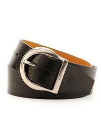 Tom Ford Men's Leather Round Buckle Belt Brown