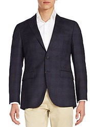 Hugo Boss The James Plaid Sportcoat Navy