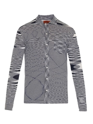 Missoni Abstract Intarsia Long Sleeved Polo Shirt