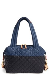 M Z Wallace Mz 'Medium Sutton' Quilted Oxford Nylon Shoulder Tote Black Blk Navy Oxford
