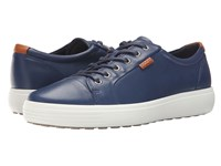 Ecco Soft Vii Sneaker True Navy Men's Lace Up Casual Shoes