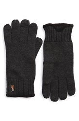 Men's Polo Ralph Lauren Merino Wool Gloves Grey Dark Granite Heather