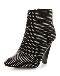 Vc Signature Galla Studded Suede Bootie Black