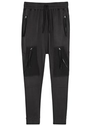 Blood Brother Loom Grey Cotton Jogging Trousers