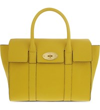 Mulberry Bayswater Small Grained Leather Tote Canary